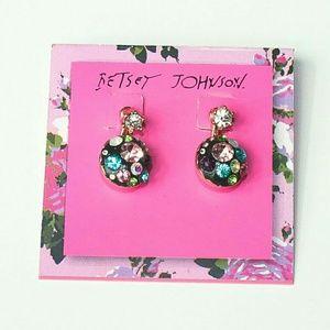 NWT! Betsey Johnson Convertible Earrings